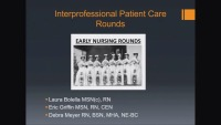 Interprofessional Patient Care Rounds