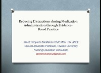 Reducing Distractions during Medication Administration through Evidence-Based Practice