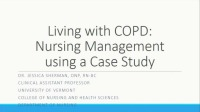 Living with COPD: Nursing Management Using a Case Study