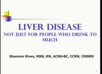 Liver Disease: Not Just for People Who Drink Too Much