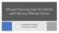 Missed Care for Adults with Serious Mental Illness: What Medical-Surgical Nurses Need to Know