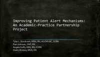 Improving Patient Alert Mechanisms: An Academic-Practice Partnership Project