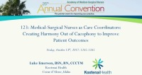 Medical-Surgical Nurses as Care Coordinators: Creating Harmony Out of Cacophony to Improve Patient Outcomes