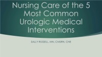 Urology: The Five Most Common Interventions