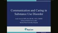 Communication and Caring in Substance Abuse