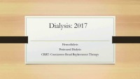 Dialysis: PD & Hemo 2017