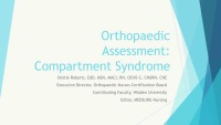 Orthopaedic Assessment: Compartment Syndrome