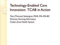 Technology-Enabled Care Innovation: TCAB in Action