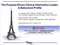 The Purpose-Driven Clinical Informatics Leader: A Behavioral Profile