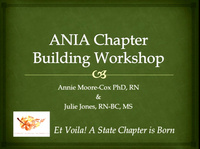 ANIA Chapter Building Workshop