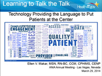 Learning to Talk the Talk: Technology Providing the Language to Put Patients at the Center of Their Own Health Care Team