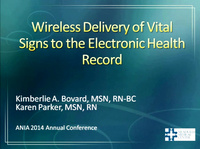 Wireless Delivery of Vital Signs to the Electronic Health Record