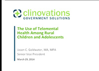 The Use of Telemental Health to Provide Cognitive Behavioral Therapy to Rural Children and Adolescents