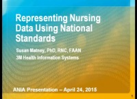 Representing Nursing Data Using National Standards