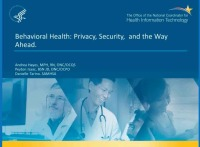 Behavioral Health: Privacy, Security, and the Way Ahead