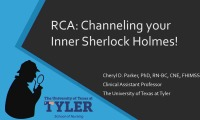 RCA: Channeling Your Inner Sherlock Holmes