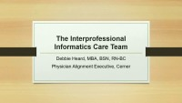 The Interprofessional Informatics Care Team