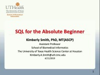 SQL for the Absolute Beginner