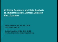 Utilizing Research and Data Analysis to Implement New Clinical Decision Alert Systems