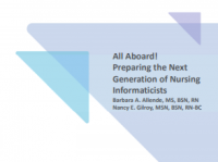All Aboard! Preparing the Next Generation of Nursing Informaticists