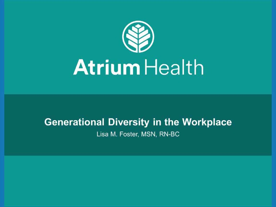 Generational Diversity in the Workplace: Communicating throughout the Ages