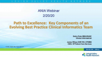 Path to Excellence: Key Components of an Evolving Best Practice Clinical Informatics Team