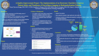 A Quality Improvement Project: The Implementation of an Electronic Checklist to Improve Patient Safety and Timeliness of Surveillance Imaging for Radioembolization Patients
