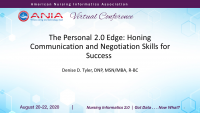 The Personal 2.0 Edge: Honing Communication and Negotiation Skills for Success