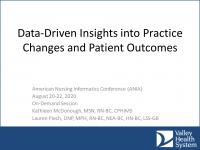 Data-Driven Insights into Practice Changes and Patient Outcomes