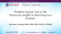 Problem Solved: Lost in the Practicum Shuffle to Searching to a Position