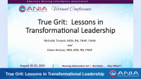 True Grit: Lessons in Transformational Leadership