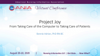 Project Joy: From Taking Care of the Computer to Taking Care of Patients