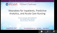 Wearables for Inpatients, Predictive Analytics, and Acute Care Nursing