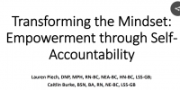 Transforming the Mindset: Empowerment through Self-Accountability