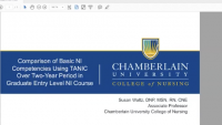 Comparison of Basic Nursing Informatics (NI) Competencies using TANIC Results Over a Two-Year Period in a Graduate-Level NI Course for Entry-Level Knowledge and Skills