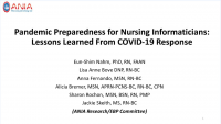 Pandemic Preparedness for Nursing Informaticians: Lessons Learned From COVID-19 Response