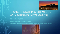 COVID-19 State Requirements: Why Nursing Informatics?