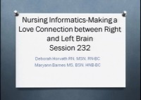 Nursing Informatics - Making a Love Connection between Right and Left Brain