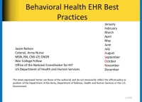 Behavioral Health EHR Best Practices