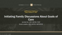 Initiating Family Discussions about Goals of Care