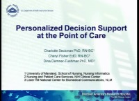 Personalized Decision Support at the Point of Care