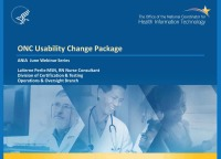 The ONC Usability Change Package