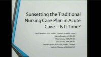 Sunsetting the Traditional Nursing Care Plan in Acute Care - Is It Time?