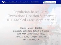 Population-Based Care Transitions Decision Support: HIE-Enabled Care Coordination