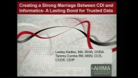 Creating a Strong Marriage Between CDI and Informatics - A Lasting Bond for Trusted Data