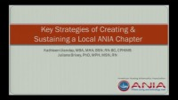 Key Strategies of Creating and Sustaining a Local ANIA Chapter