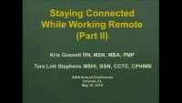 Staying Connected while Working Remote (Part 2)
