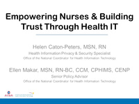 Empowering Nurses and Building Trust Through Health IT