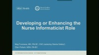 Developing or Enhancing the Role of the Nursing Informaticist