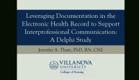 Leveraging Documentation in the Electronic Health Record to Support Interprofessional Communication